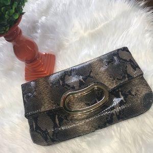 Gianni Bini Snakeskin Clutch